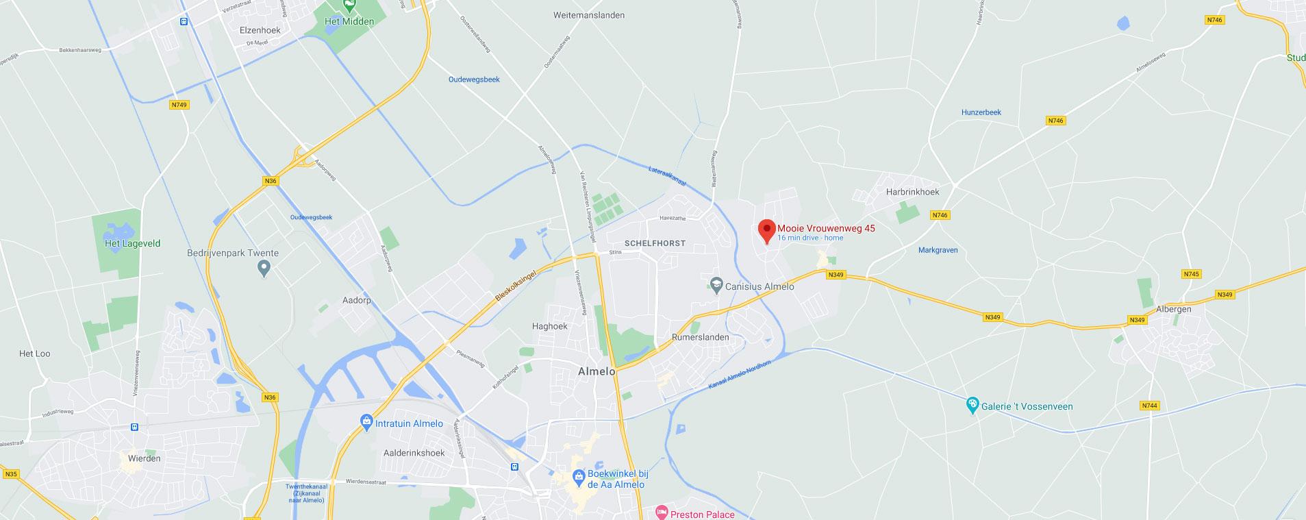 Hardloopschool-De-Mooie-Vrouw-locatiekaartje